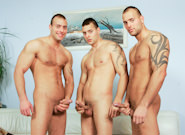 Gay Orgy GroupSex : Sofa video clip - Jason Visconti -amp; Jimmy Visconti -amp; Joey Visconti!