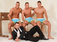 Gay Orgy GroupSex : the Cellar - Jason Visconti -amp; Jimmy Visconti -amp; Joey Visconti -amp; Renato Belaggio!