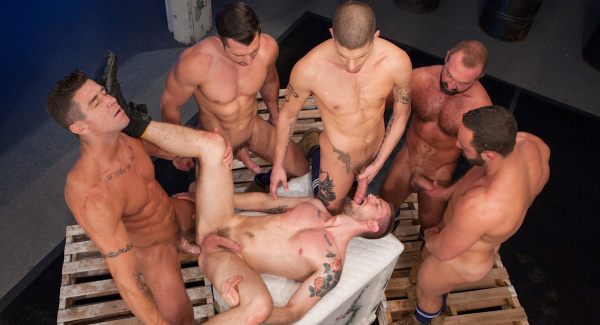 Gay Orgy GroupSex : Pack Attack 7: Troy Daniels - Fabio Stallone -amp; Josh West -amp; Troy Daniels -amp; Jimmy Durano -amp; Trenton Ducati -amp; Ty Roderick!