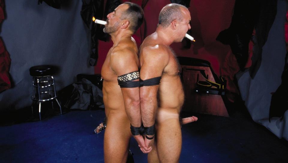 Hunks dripping wax on bound billy santoro 5