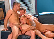 Gay Muscle Men : Hat Trick - Adam Wirthmore -amp; Brody Wilder -amp; Adam Hardy!