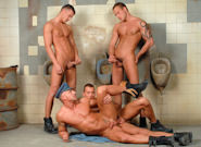 Gay Orgy GroupSex : Doing Hard Time - Jason Visconti -amp; Jimmy Visconti -amp; Joey Visconti -amp; Simon A!