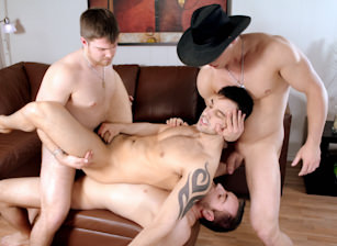 1st Anniversary Gang Bang: Felix Takes The Hit!