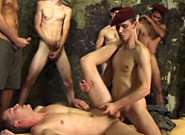 Bareback Gangbang Recruits #02, Scene #03