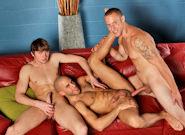 Gay Porn : TRIO - Austin Wilde -amp; Angelo Romani -amp; Campbell Stevens!